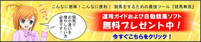 『競馬無双』運用ガイドおよび自動競馬ソフト無料プレゼント